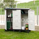 Plastová skříňka AMBI nízká 3 dveřová