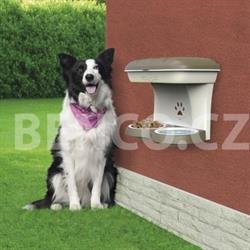 Dvoumiska pro psa s úložným prostorem - barva hnědá