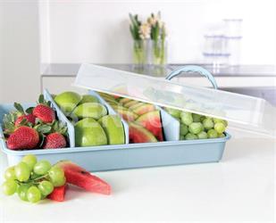 Přenosný box na potraviny, piknik box s přihrádkami