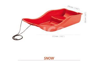 Sáňky / boby SNOW 87 x37 cm bez brzd