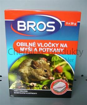 BROS Obilné vločky na myši a potkany
