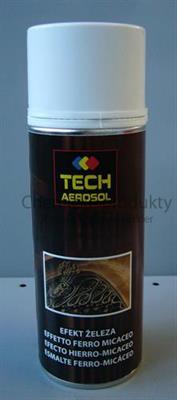 Tech Aerosol barva ve spreji se strukturálním efektem na kov